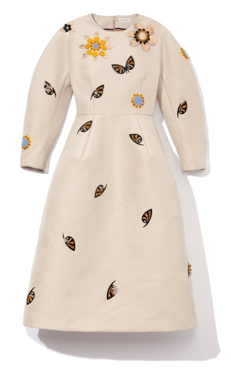Embellished Sculpted Long Sleeve Dress by Delpozo on Moda Operandi