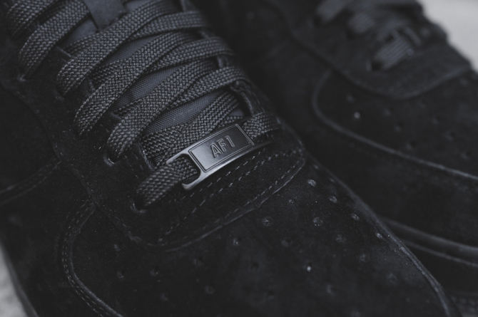 Nike Air Force 1 Low Black Suede